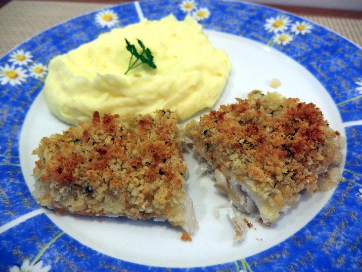 Aromatický rybí filé v parmazánové krustě